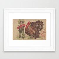 thanksgiving Framed Art Prints featuring Vintage Thanksgiving  by Angelandspot