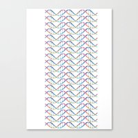 dna Canvas Prints featuring DNA by FACTORIE