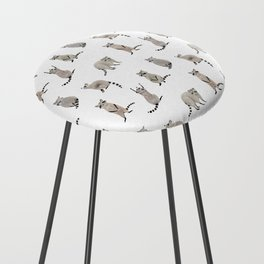 Raccoon pattern Counter Stool