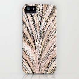Rose Gold and Glitter Brushstroke Bursts iPhone Case
