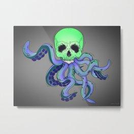 Skull Tentacles Metal Print