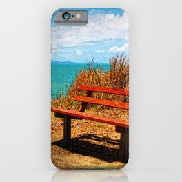 Park Bench On The Headland iPhone Case
