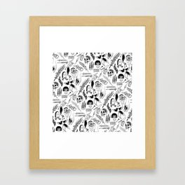 Death Lily Tattoo Flash Print Framed Art Print