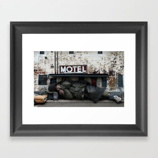 Homeless Giant Framed Art Print