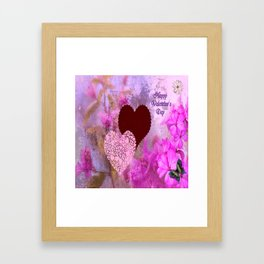 Happy Valentine`s Day Framed Art Print