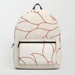 Flowery Rose Gold Mandala on Cream III Backpack