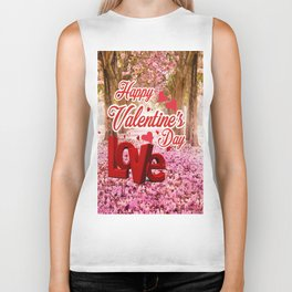 Happy Valentine Day Biker Tank