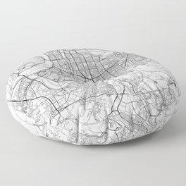 Taipei White Map Floor Pillow