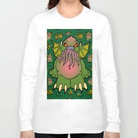cthulhu Long Sleeve T-shirts featuring Cthulhu by Squaredog