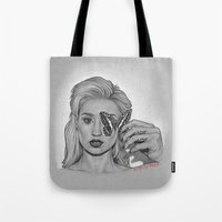 iggy Tote Bags featuring IGGY by Michael Villalobos