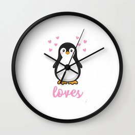 Just A Girl Who Loves Penguins T Shirt Cute Nature Toddlers T-Shirt Wall Clock