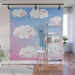 Girl in the Clouds Wall Mural