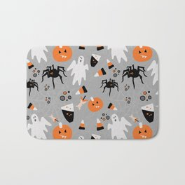 Spooky Halloween Spiders/Pumpkin/Ghosts/CandyCorn Bath Mat