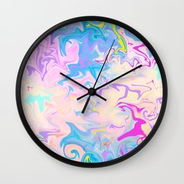 Abstract Pattern Blue and Purple Wall Clock