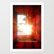 Glorius Rays from the Setting Sun Art Print