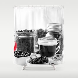 Fine Coffee and coffeebeans for homedecors Shower Curtain