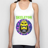 skeletor Tank Tops featuring Skeletor by Michael Keene