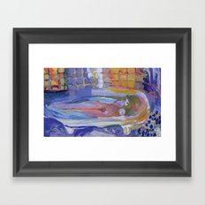 Study of Pierre Bonnard's Nude in the bath Framed Art Print