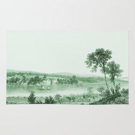 Vintage Lake Champlain  (Green) Rug