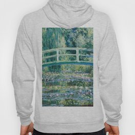 1899-Claude Monet-Water Lilies and Japanese Bridge Hoody