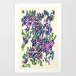 Vertical growth algorithms hindering horizontal expansion Art Print