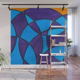 Blue and Purple Circles Wall Mural