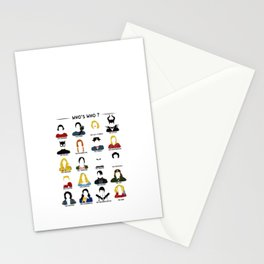 Who's who ? Stationery Cards