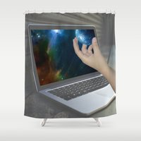 portal Shower Curtains featuring Portal by Cale potts Art