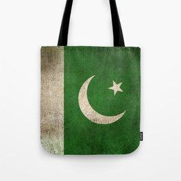 Old and Worn Distressed Vintage Flag of Pakistan Tote Bag