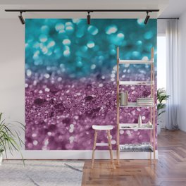 Tropical Beach Lady Glitter #5 #shiny #decor #art #society6 Wall Mural