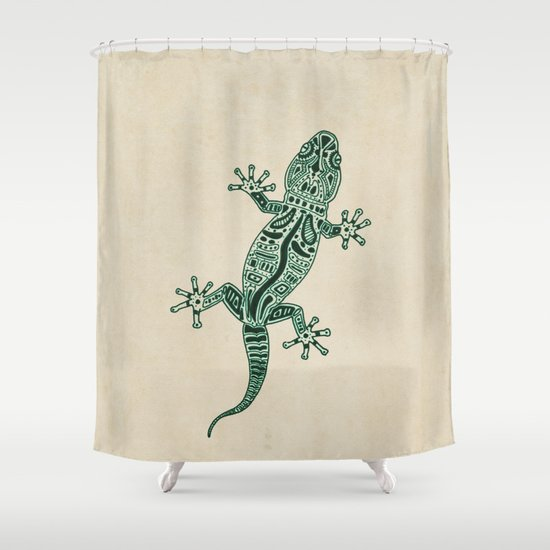 Ornate Lizard Shower Curtain