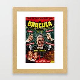 Dracula, vintage horror movie poster, 1931 Framed Art Print