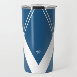 Blue V 2 #retro #society6 #abstract #artdeco #minimal #art #design #kirovair #buyart #decor #home Travel Mug