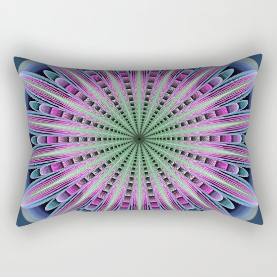 Artistic fantasy flower mandala Rectangular Pillow