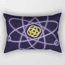 Gold and Silver Atomic Structure Rectangular Pillow