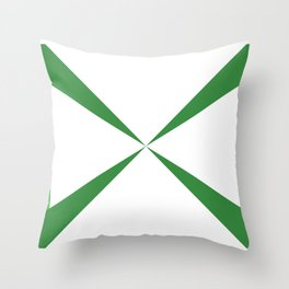 Simple Construction Green Throw Pillow