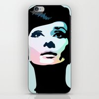 posters iPhone & iPod Skins featuring Audrey Hepburn Posters by Creativehelper