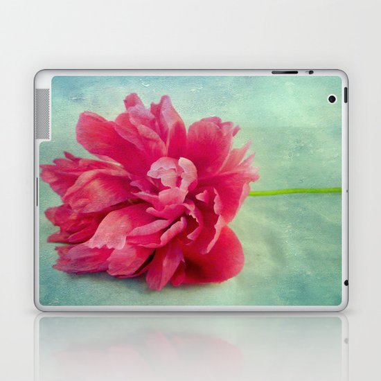 Peony on Blue Laptop & iPad Skin