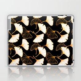 Ginkgo Leaf (Golden Calico) - Black Laptop & iPad Skin