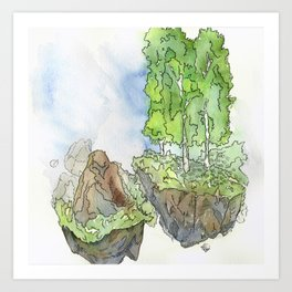 Floating Islands Art Print