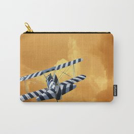 warbirds biplane clouds orange Carry-All Pouch