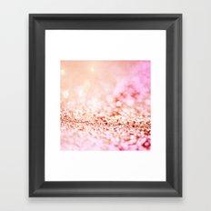 Pink shiny glitter - Sparkle Valentine Backdrop Framed Art Print