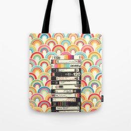 VHS & Rainbows Tote Bag
