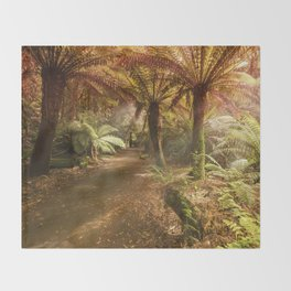 Golden Forest Throw Blanket
