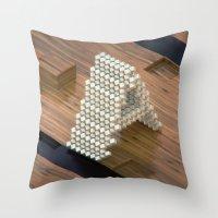 3d Throw Pillows featuring 3d by Posticks