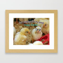 Just Hanging with my Peeps Framed Art Print