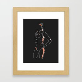 Body Lineart Framed Art Print