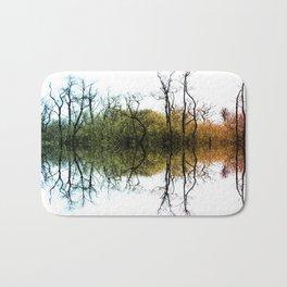 Colourful Tree Reflection Bath Mat