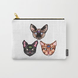 Three Psychic Cats Carry-All Pouch