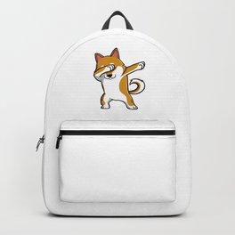 Dabbing Shiba Inu Funny Backpack